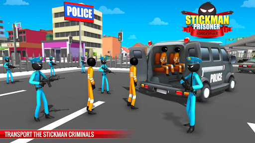 US Police Stickman Criminal Plane Transporter Game apktram screenshots 1