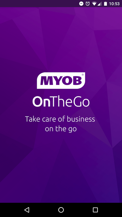 MYOB OnTheGo- screenshot