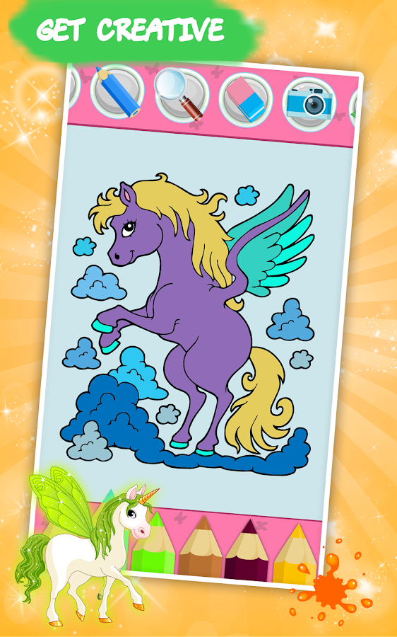 Coloring Book For : Unicorn coloring book for kids android apps on google play
