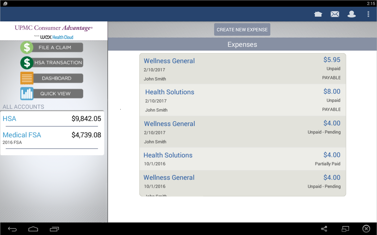 UPMC Consumer Advantage- screenshot