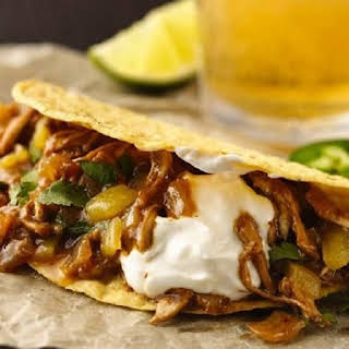 Pressure Cooker Beer-Braised Chicken Tacos.