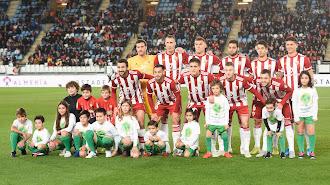 El once del Almería frente al CD Mirandés.