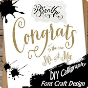 DIY calligraphy font craft design icon