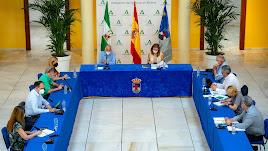 Momento de la Comisión que tuvo lugar en el Castillo de Santa Ana