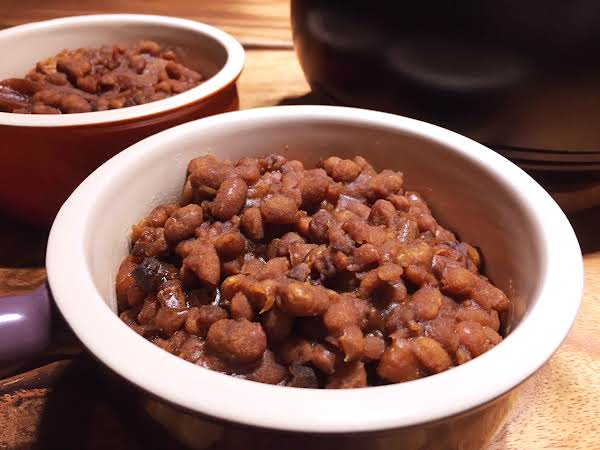 Cooked Beans In Two Bowls.