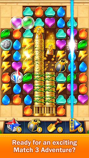 Golden Match 3 Puzzle Game - Real treasure hunter 1.2.5 Mod screenshots 1