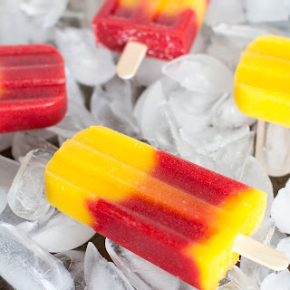 Strawberry Mango Popsicles.