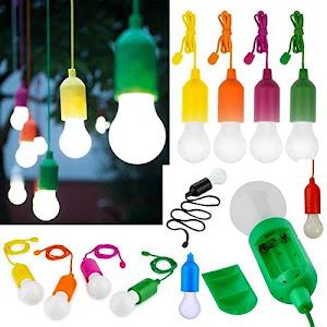 Set 4 lampi Handy Lux M13485, Galben, Orange, Verde, Mov