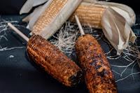 直立式炭烤玉米(饒河夜市)