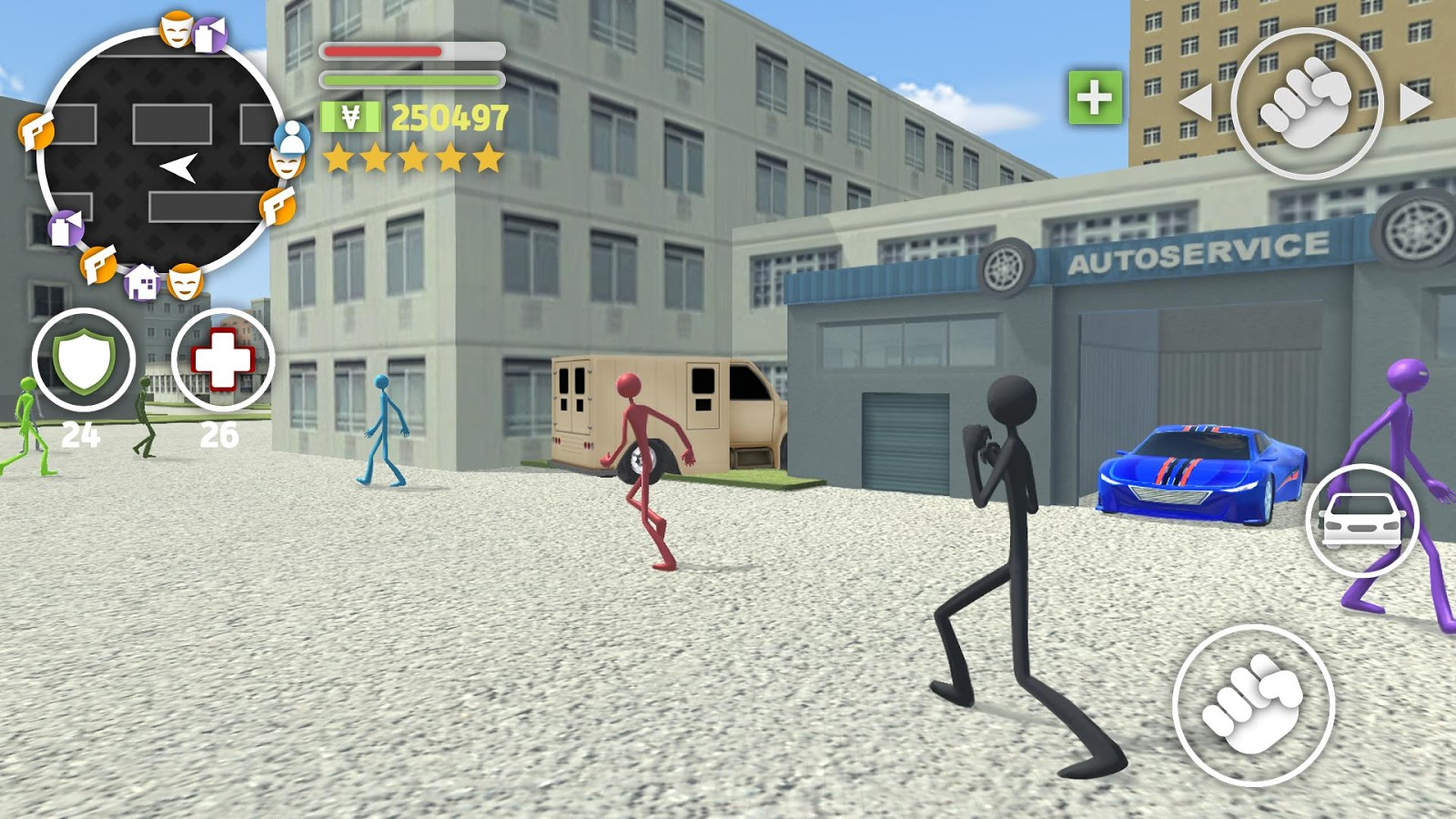 Grand Stickman Auto V- screenshot