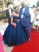 Nkomfa Mkabile and his wife Unathi at the Sona on Thursday evening.
