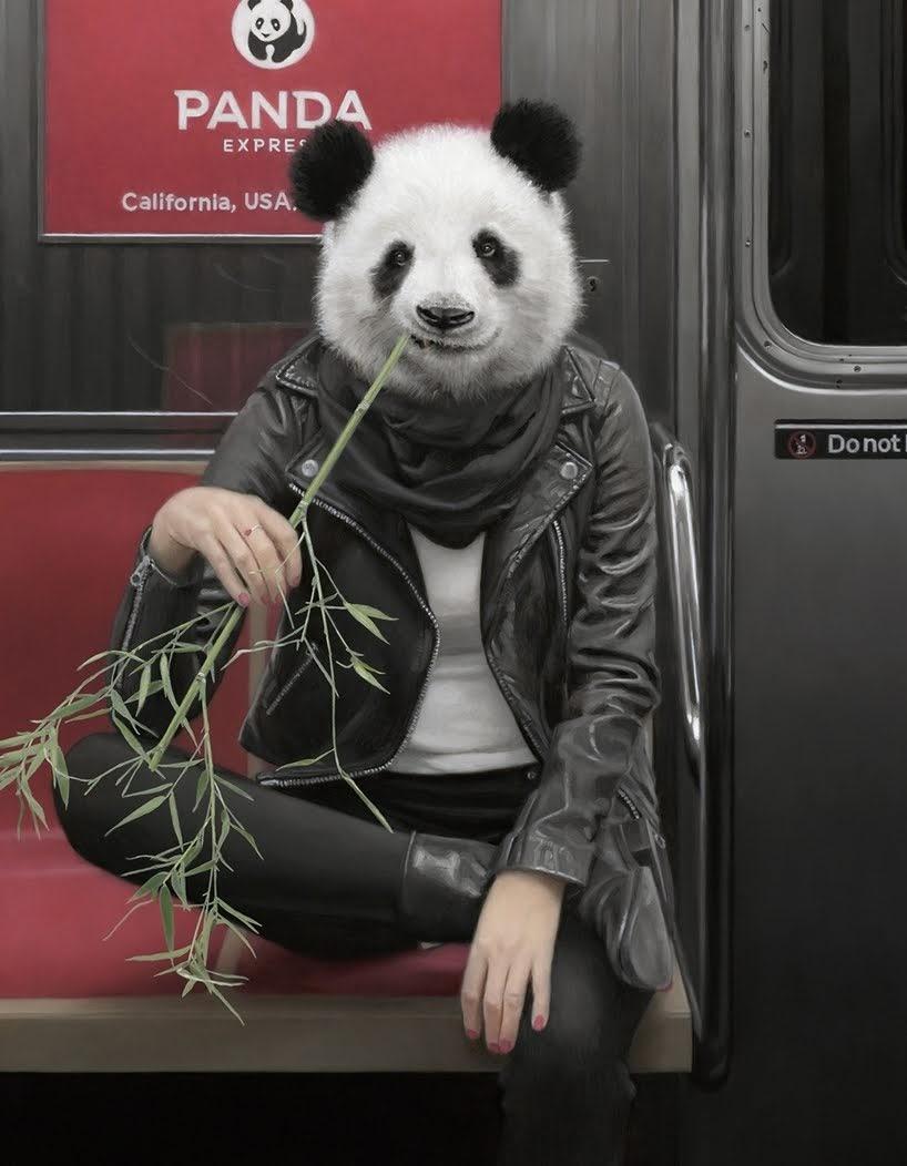 Un paseo salvaje dentro del metro de la Ciudad de Nueva York en las pinturas de Matthew Grabelsky