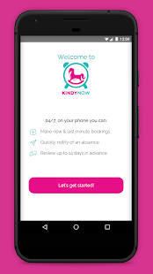 KindyNow Childcare booking App- screenshot thumbnail