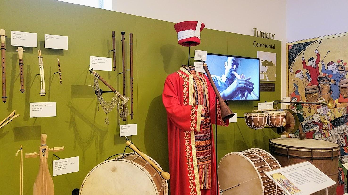 Music Instrument Museum (MIM) Geographic galleries, music instruments of Turkey