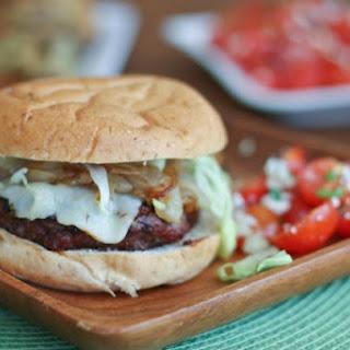 Grilled Barbecue Bison Burger.