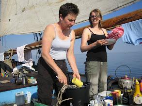 Photo: Huishoudelijk werk bij weinig wind