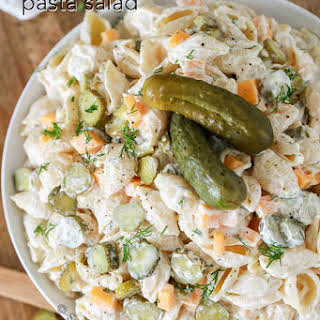 Dill Pickle Lovers Pasta Salad.