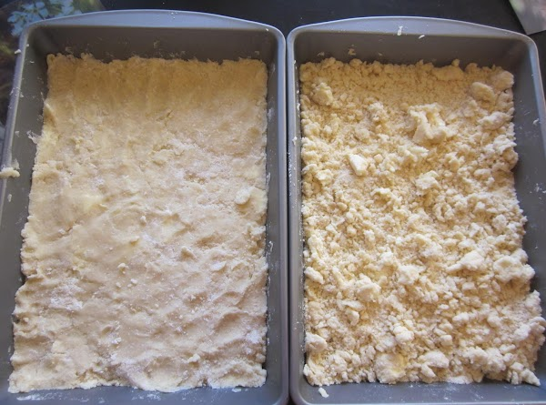Combine 1 cup flour, powdered sugar & butter to form a dough. Use fingers...