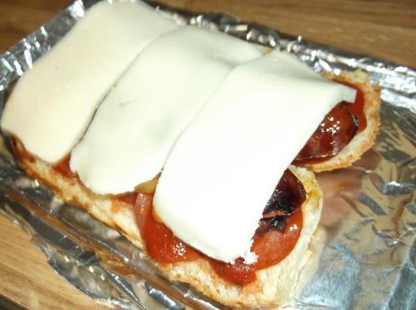 Cover with mozzarella slices.