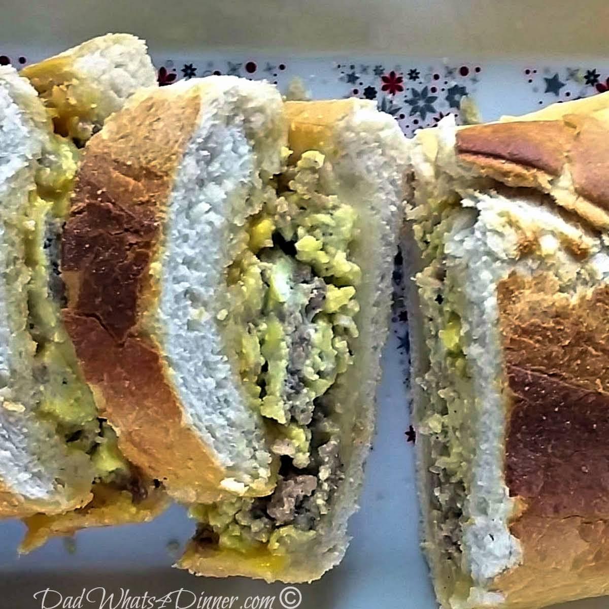 Cheesy Garlic Bread Breakfast Sandwich