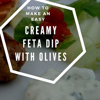 Easy, Creamy Dip With Cottage Cheese, Feta And Olives