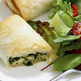 Chicken, Spinach and Feta Rolls.
