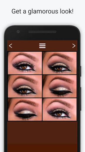 Eye makeup for brown eyes Screenshot