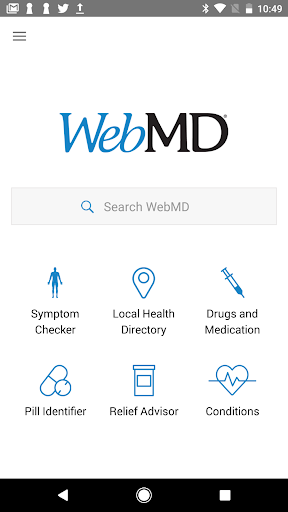 WebMD for Android Screenshot