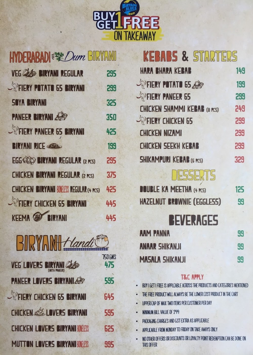 Biryani Blues menu 5