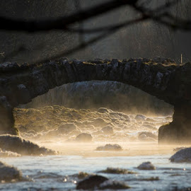 by Nediljko Prološčić - Buildings & Architecture Bridges & Suspended Structures ( winter, sunrise, bride, river )