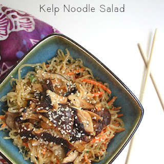 Kelp Noodle Salad with Peanut Dressing