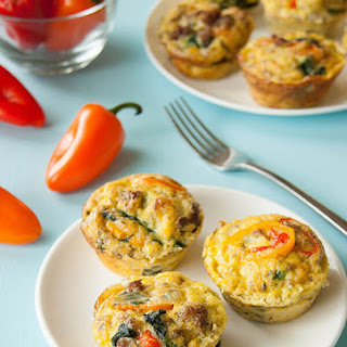 Keto Egg Muffins with Sausage and Veggies {Low Carb, Gluten Free, Clean Eating}.
