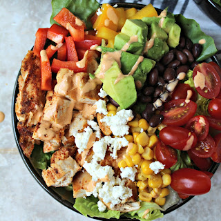 Chopped Chicken Salad with Chipotle Dressing.