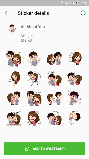 Love Story Stickers - WAStickerApps Apk 2
