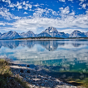 The Grand Tetons with Mt. Moran by Brent Morris - Landscapes Travel (  )