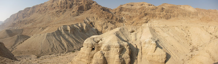 Photo: Dead Sea Scrolls caves panorama
