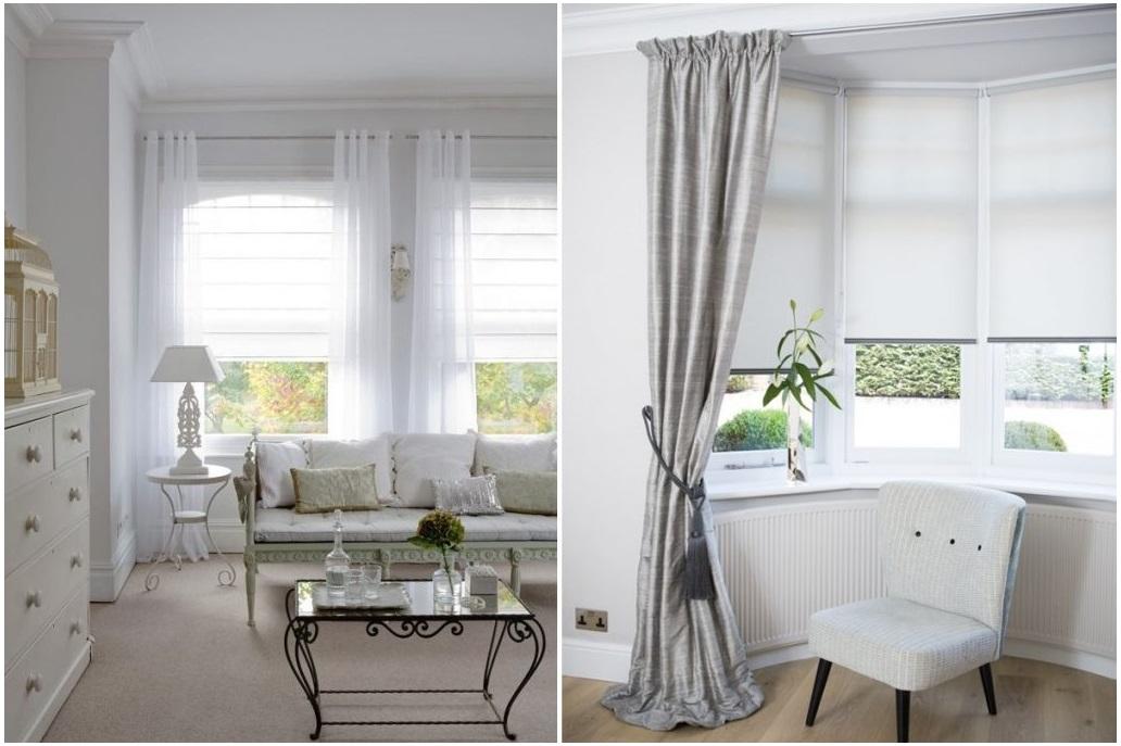 estores y cortinas para salón