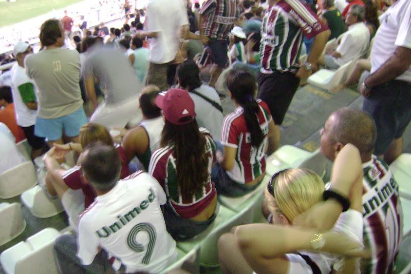 Concas das torcedoras tricolores