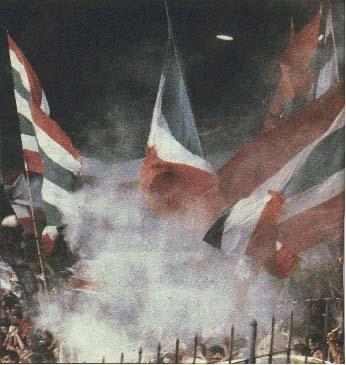 Torcida do Fluminense comemora com o pó-de-arroz
