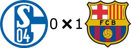 Schalke 0x1 Barcelona