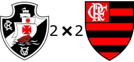 Tudo igual no amistoso - Vasco 2x2 Flamengo