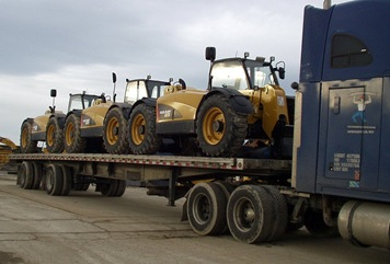 Egyptian Hay Forklifts on My Flatbed