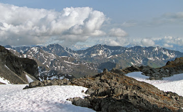 Photo: Glacier Pass: view of Talkeetnas + Chugach Range (crop)