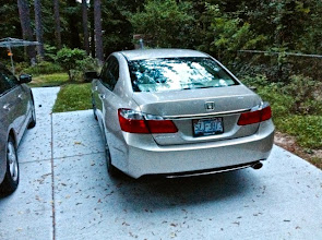 """Photo: From the back.  We saved two things from the old 2005 Accord: The License Plate, and the """"Quick Pass"""" RFID Sticker."""