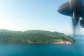 Photo: landing, just a few dozens fathoms above sea level