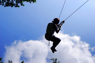 Photo: Giant Swing High Ropes Course at Camp Toccoa