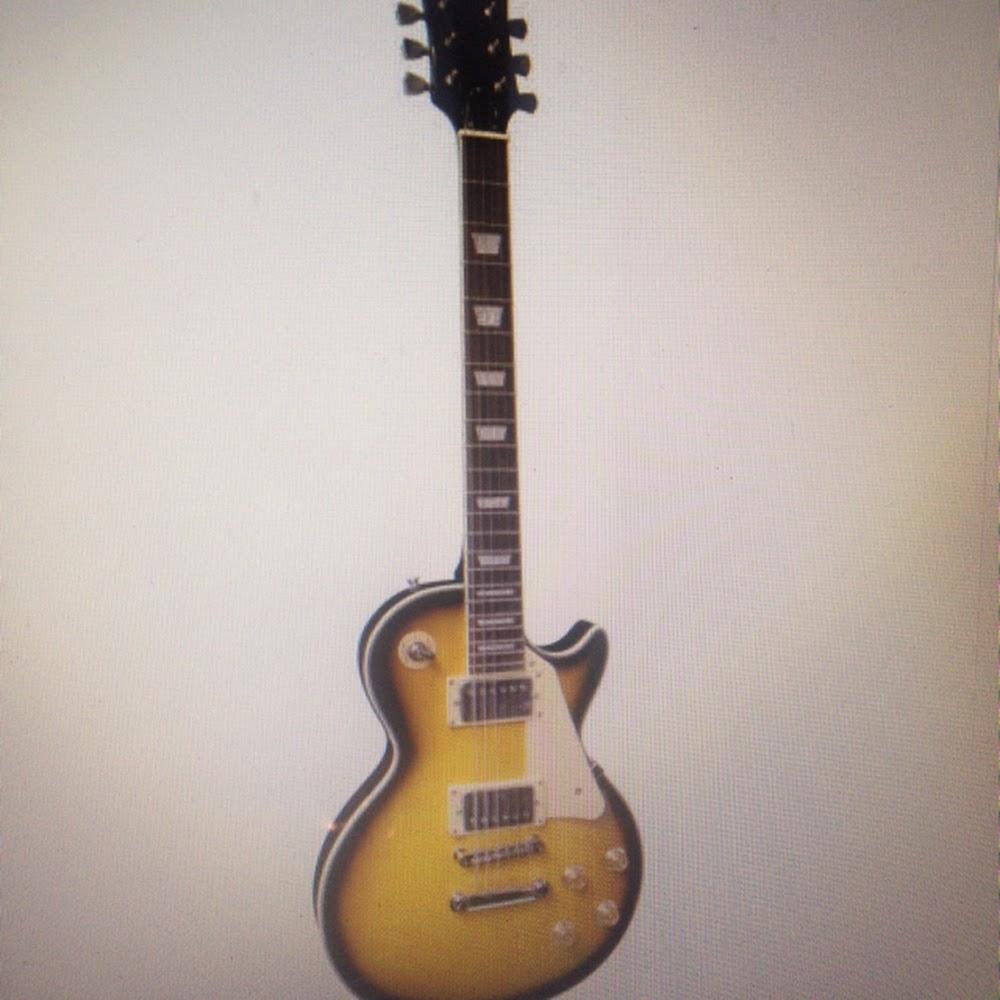 Chitarra elettrica stile Les Paul marrone sunburst