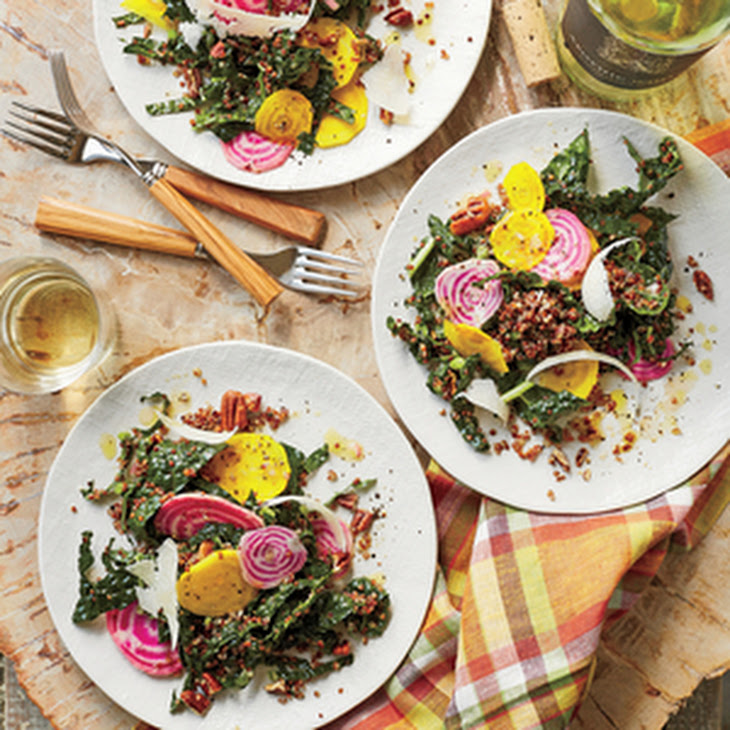 Red Quinoa Salad with Beets, Kale, and Parmesan Recipe
