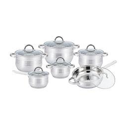 Set oale inox Kitchen Pro+ KP 1251, 12 piese