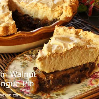 Raisin Walnut Meringue Pie